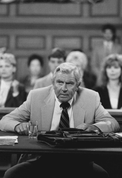 """Andy Griffith als Benjamin Matlock in """"Matlock"""". 