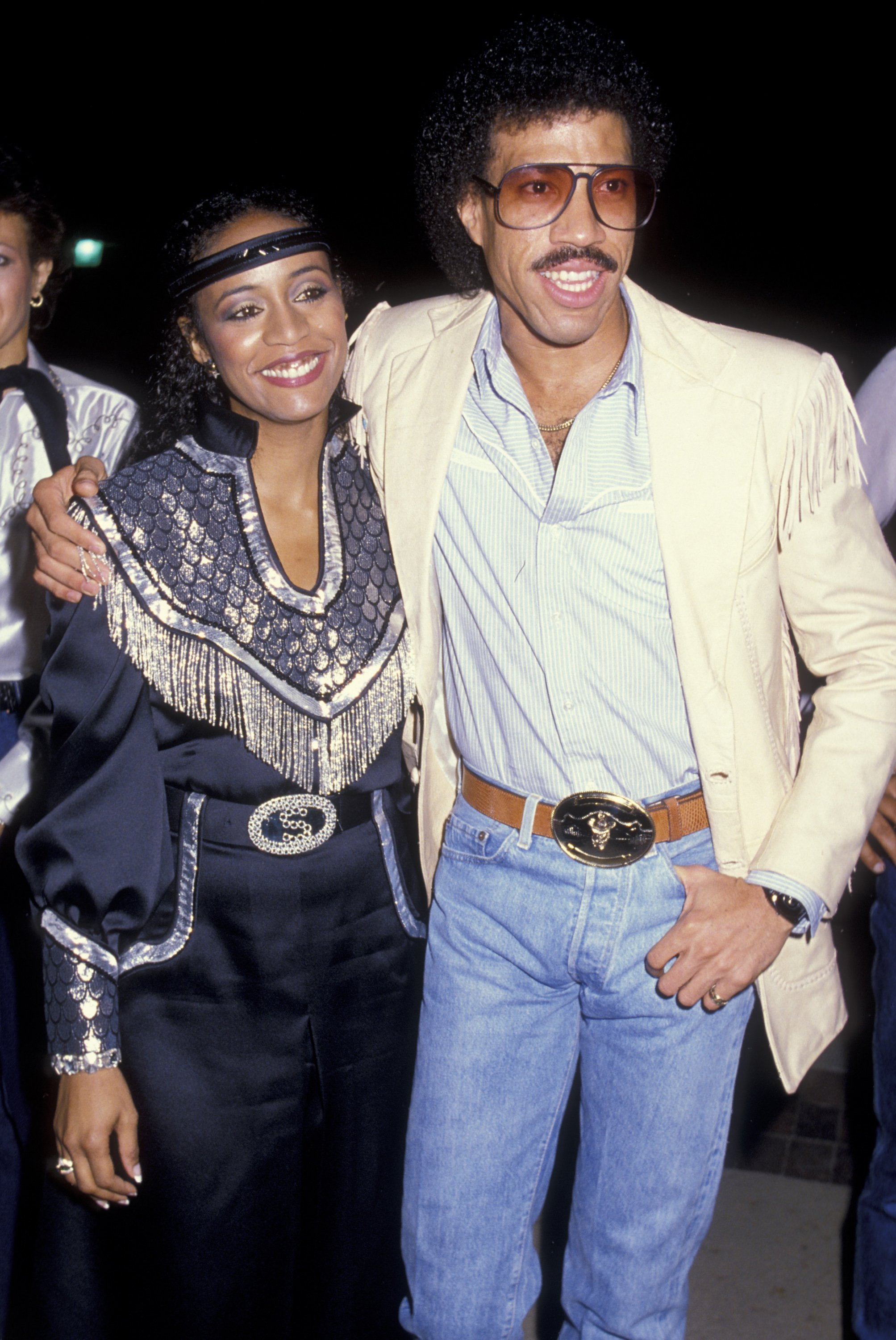Lionel Richie and Brenda Harvey attend Share Boomtown Party on April 28, 1984 at the Pauley Pavilion at UCLA Campus in Westwood, California | Photo: GettyImages