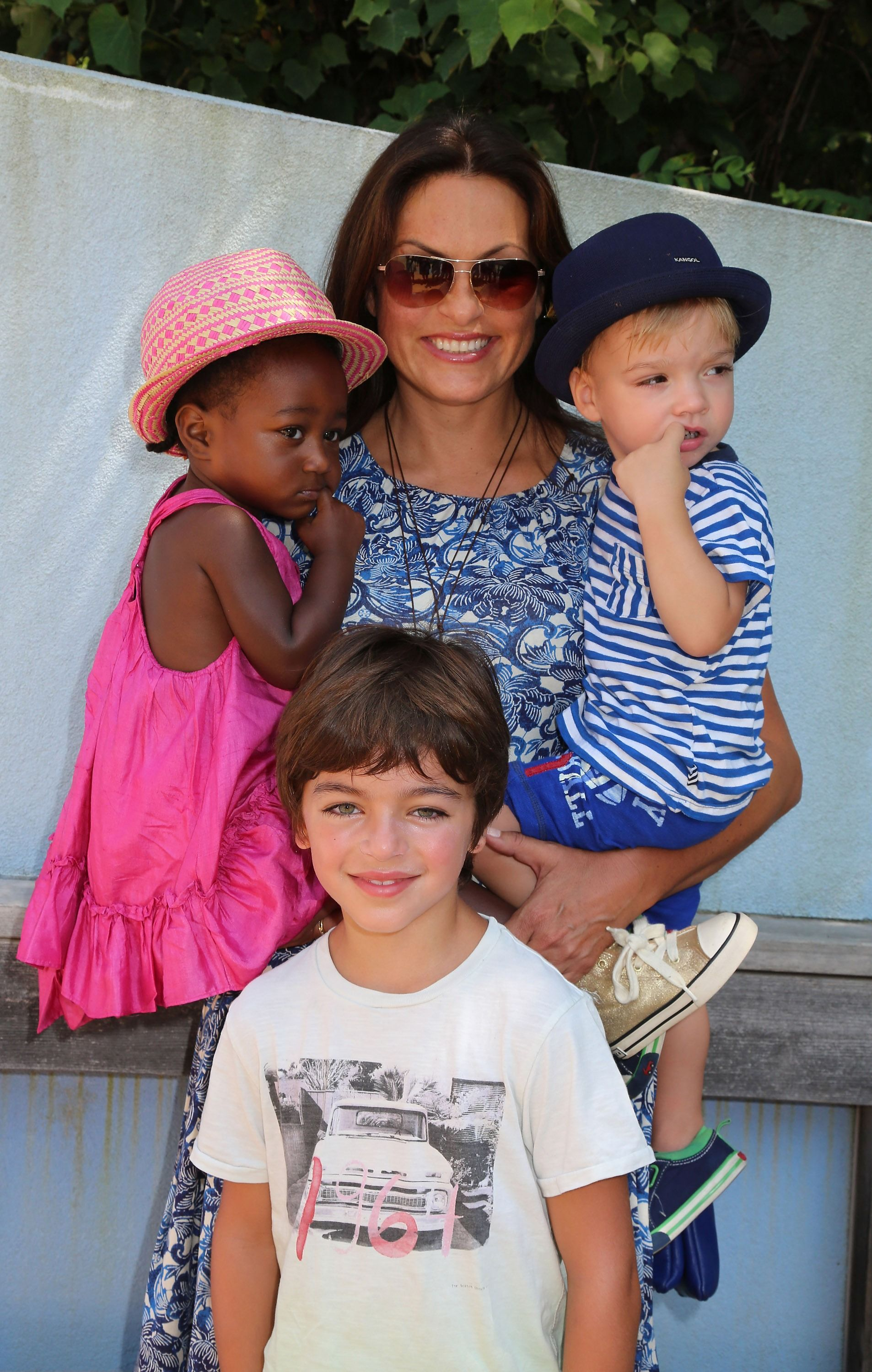 Mariska Hargitay with children Amaya, Andrew, and August at The Children's Museum Of The East End 5th Annual Family Fair | Source: Getty Images