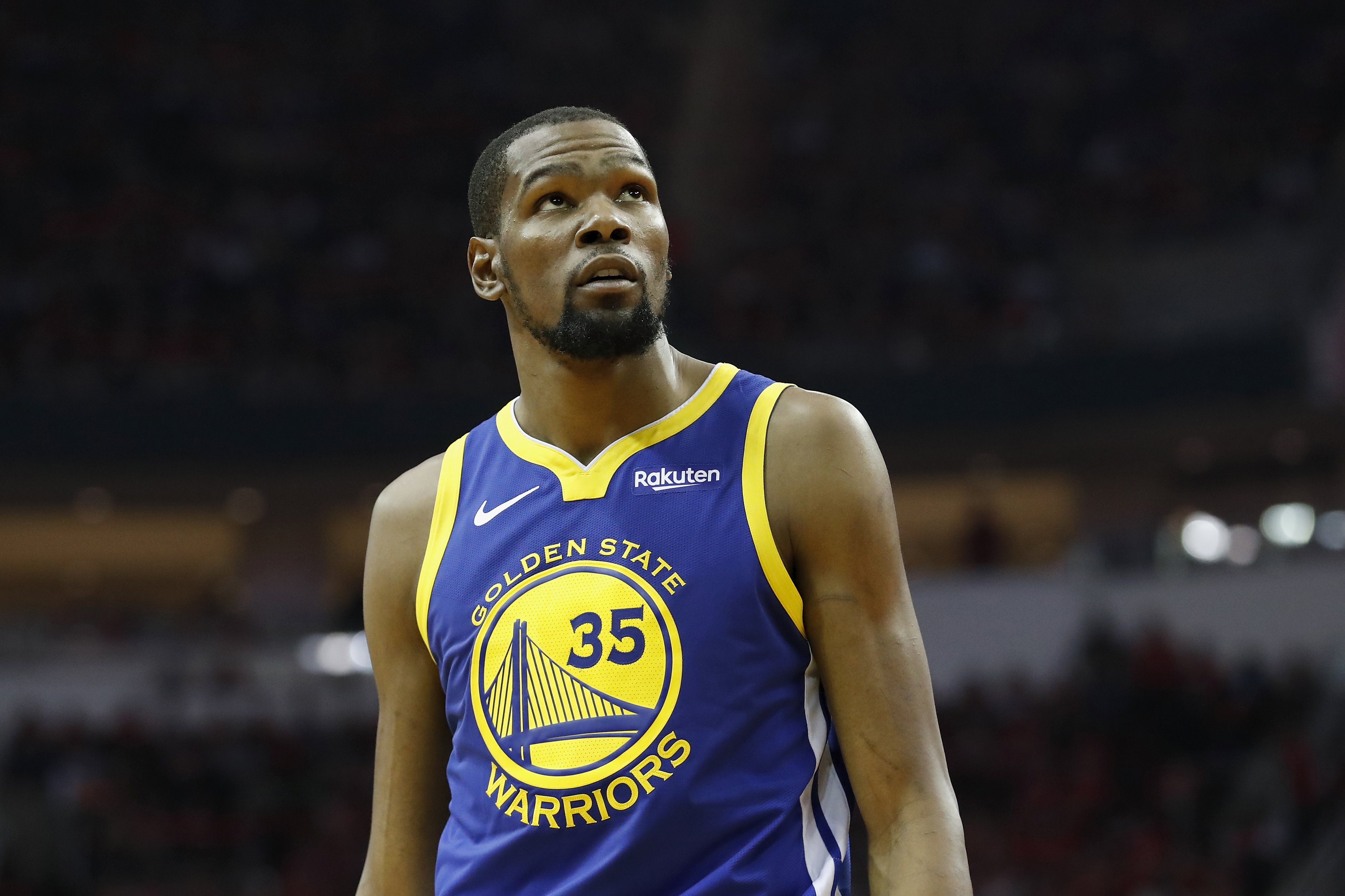 evin Durant during the 2019 NBA Western Conference Playoffs against the Houston Rockets at Toyota Center on May 4, 2019 in Houston, Texas | Photo: GettyImages