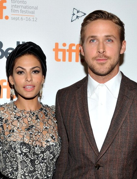 Eva Mendes and Ryan Gosling at Princess of Wales Theatre on September 7, 2012 in Toronto, Canada. | Photo: Getty Images