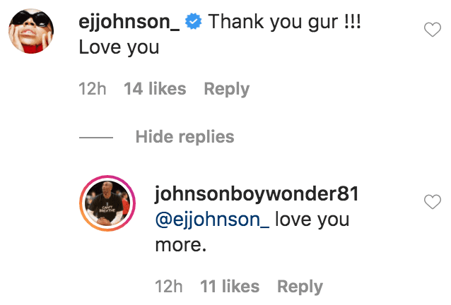 EJ Johnson commented on a birthday tribute from his bother Andre Johnson | Source: Instagram.com/johnsonboywonder81
