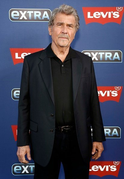 "James Brolin visits ""Extra"" at The Levi's Store Times Square on April 18, 2019 