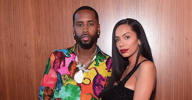 Safaree & Erica Mena's Baby Safire Wows Sitting in Cozy Armchair in a Black Robe & Matching Bow