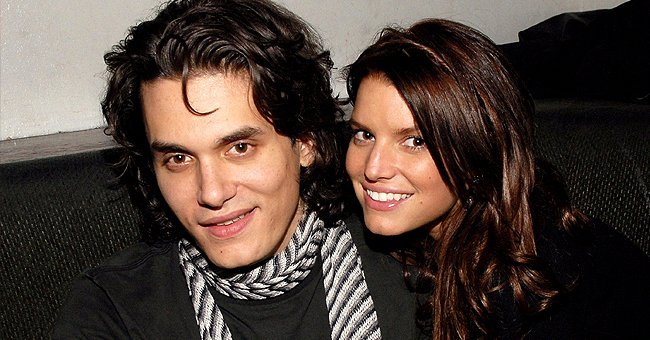 John Mayer and Jessica Simpson attend a Concert at Madison Square Garden on February 28, 2007
