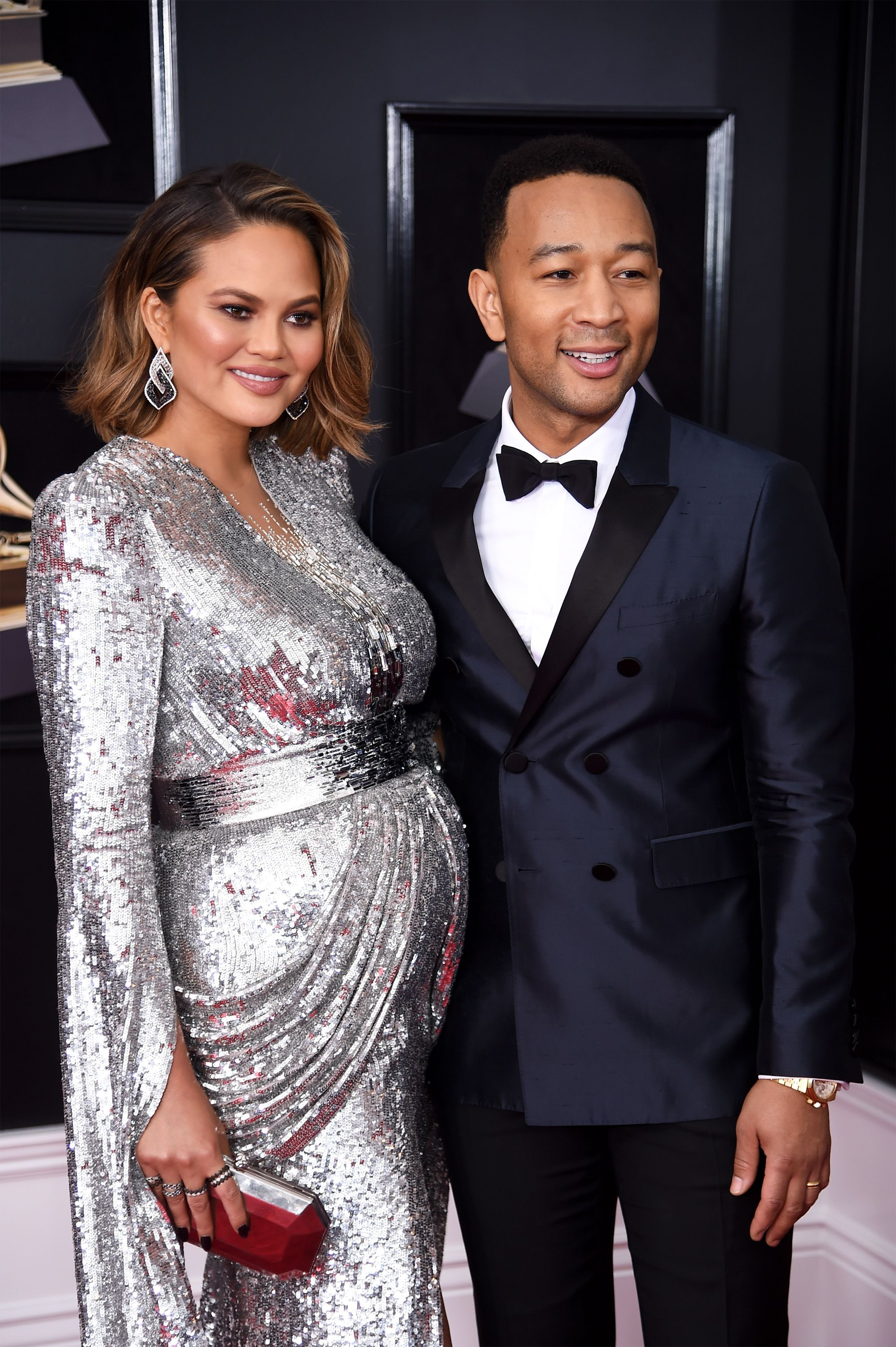 Chrissy Teigen and John Legend at the Grammy Awards on January 28, 2018 in New York | Photo: Getty Images