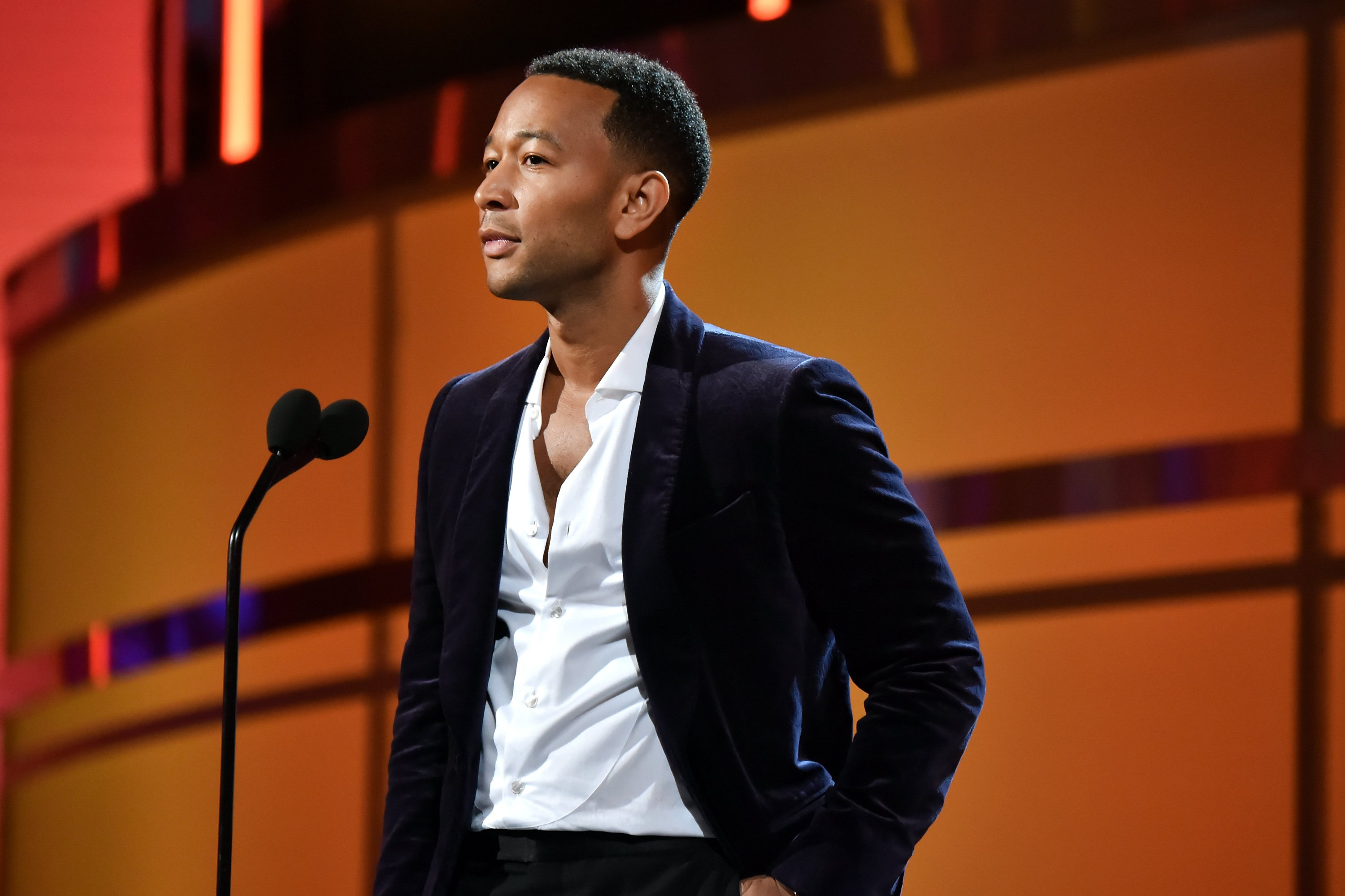 John Legend onstage at the 2018 BET Awards in Los Angeles, California on June 24, 2018 | Photo: Getty Images