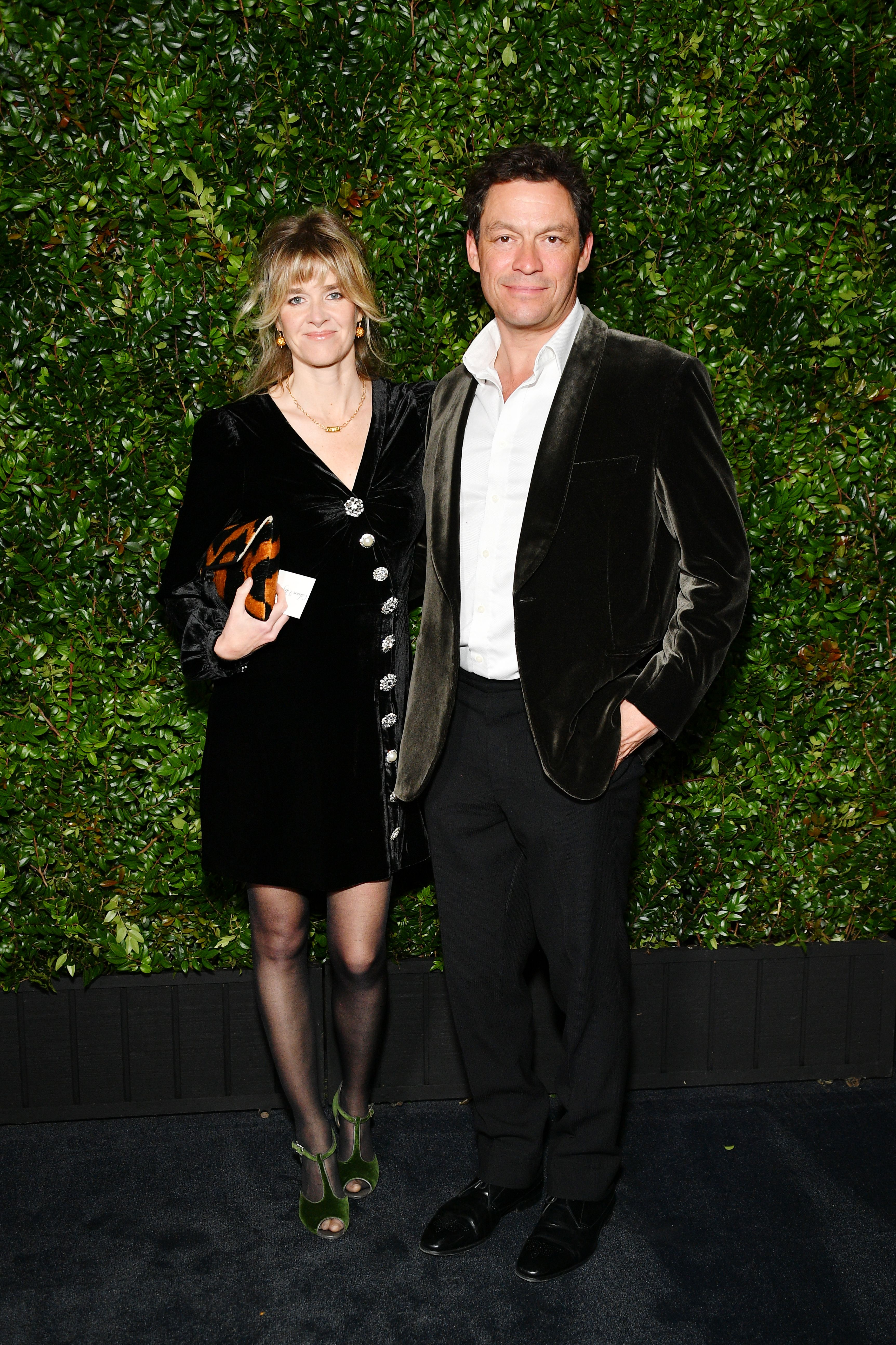 Dominic West and Catherine Fitzgerald at the Chanel And Charles Finch Pre-Oscar Awards Dinner in 2019 in Hollywood | Source: Getty Images