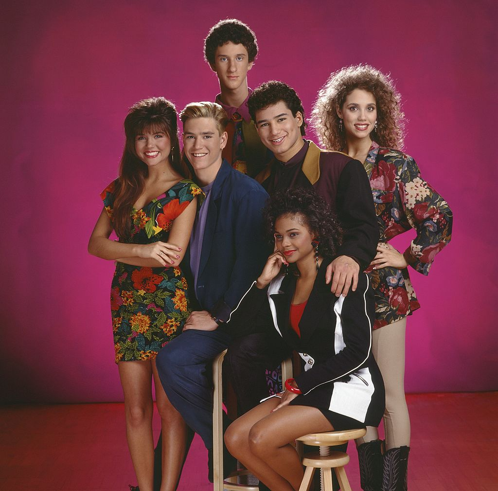 """Dustin Diamond and the rest of the """"Saved by The Bell"""" crew in the 1990s.   Photo: Getty Images"""
