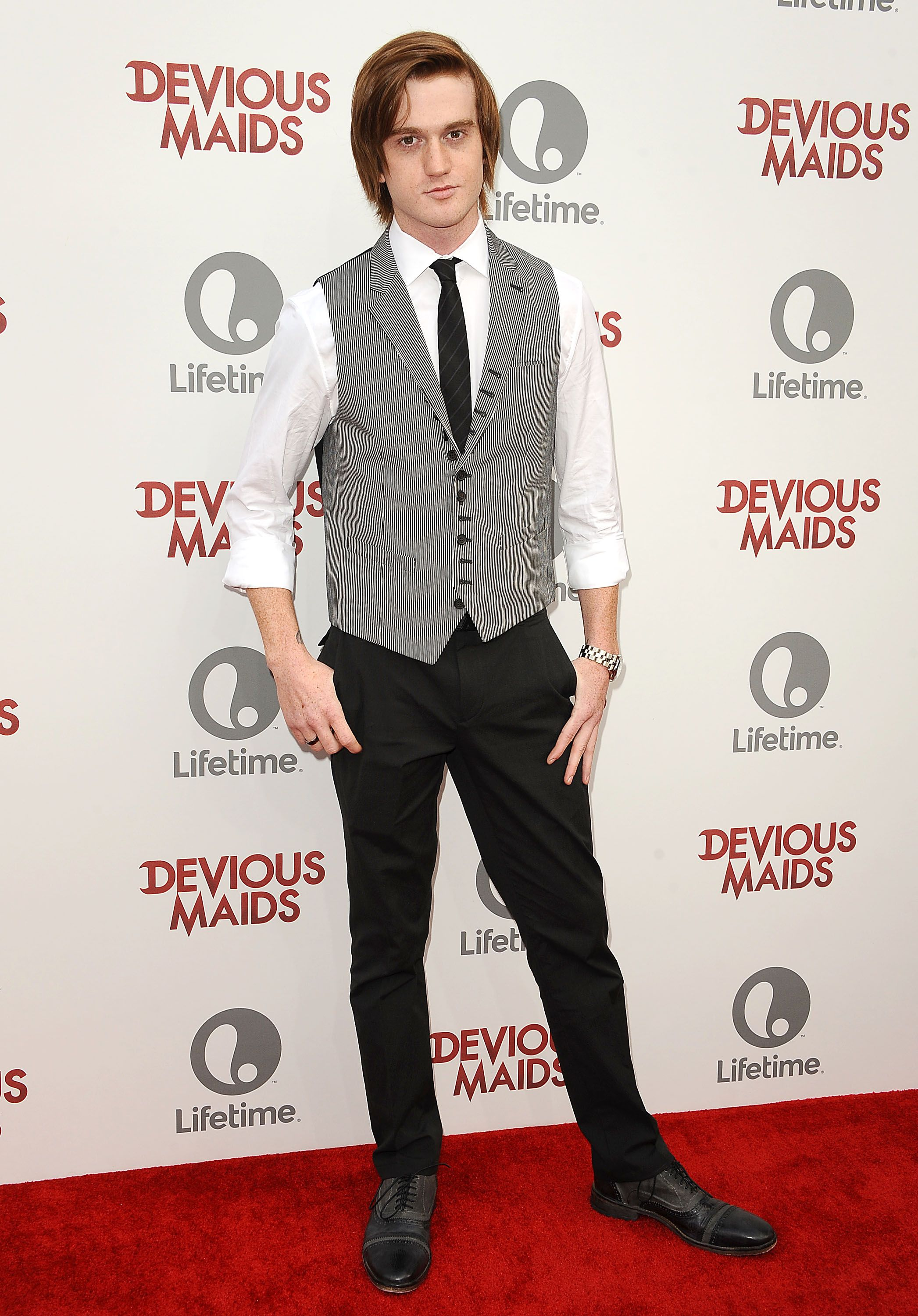 """Eddie Hassell atthe premiere of """"Devious Maids"""" at the Bel-Air Bay Club on June 17, 2013, in Beverly Hills, California 