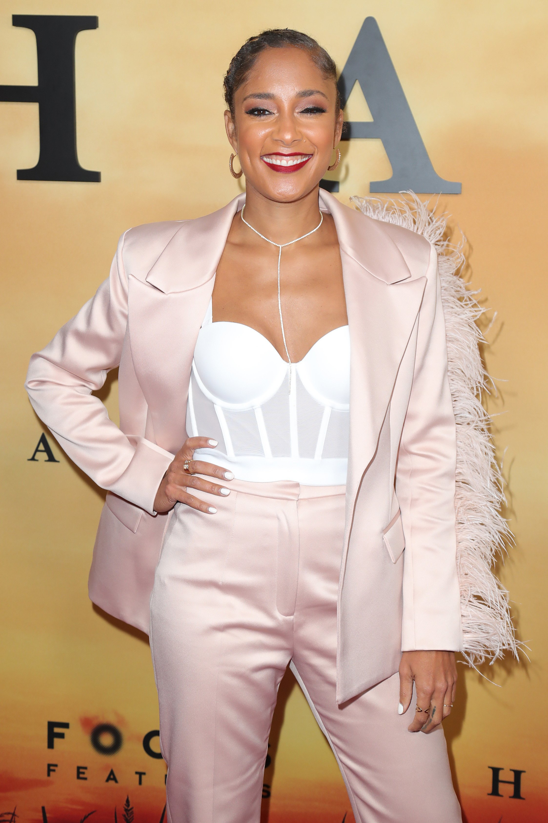 """Amanda Seales attends Premiere Of Focus Features' """"Harriet"""" on October 29, 2019. 