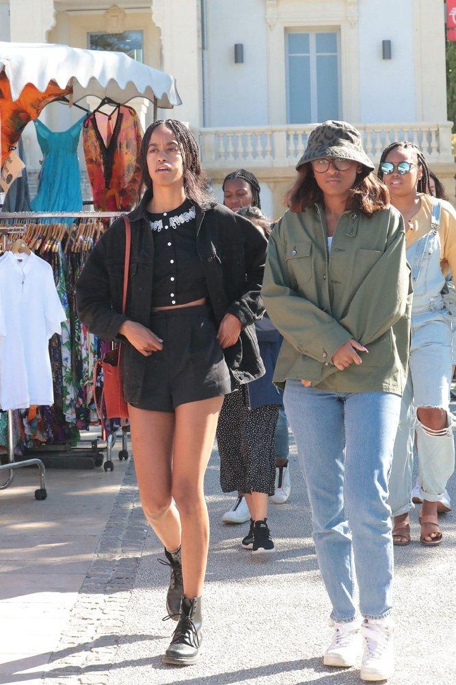 Malia and Sasha Obama on their France vacation   Photo: Hollywood Life