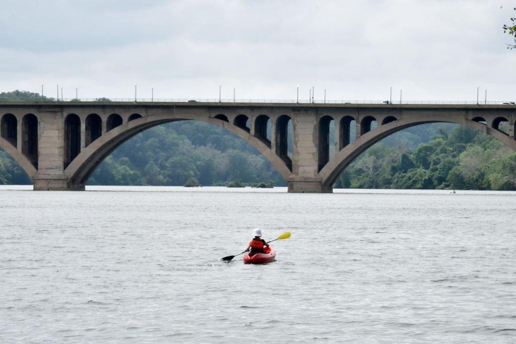 A boater kayaks on the Potomac River on May 29, 2020 | Photo: Getty Images