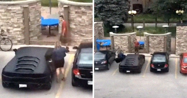 Guy Pretends Lamborghini Is His in Front of a Girl: She Unlocks It at the Very Last Minute