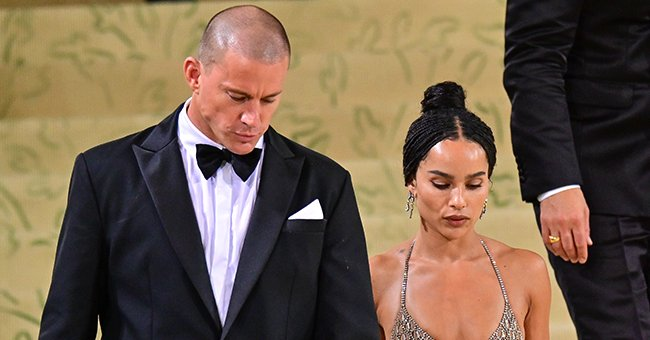 Channing Tatum and Zoe Kravitz leaving the 2021 Met Gala, September 2021 | Source: Getty Images