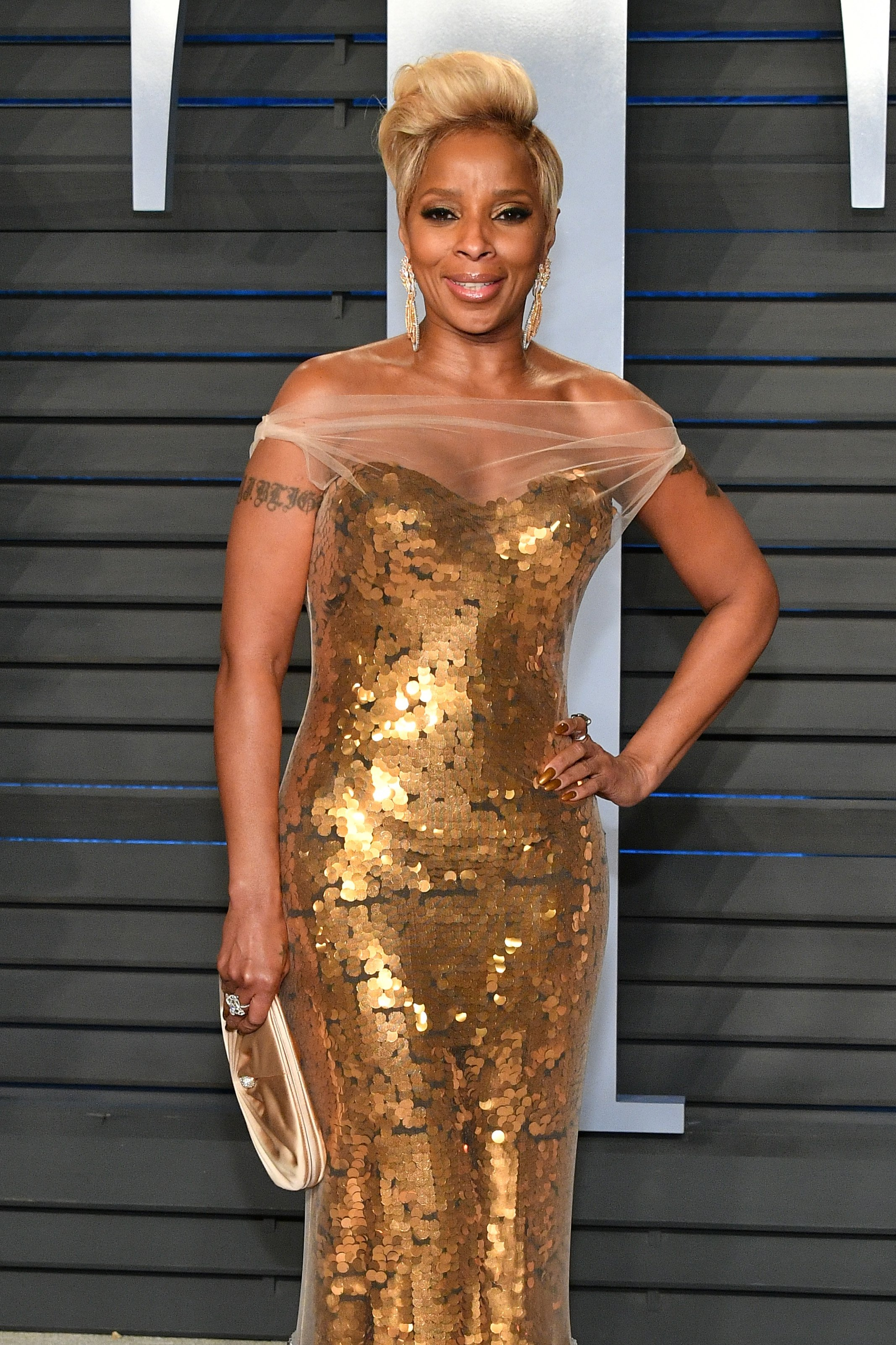 Mary J. Blige at the 2018 Vanity Oscar Party in Beverly Hills, Califorrnia in March 2018. | Photo: Getty Images