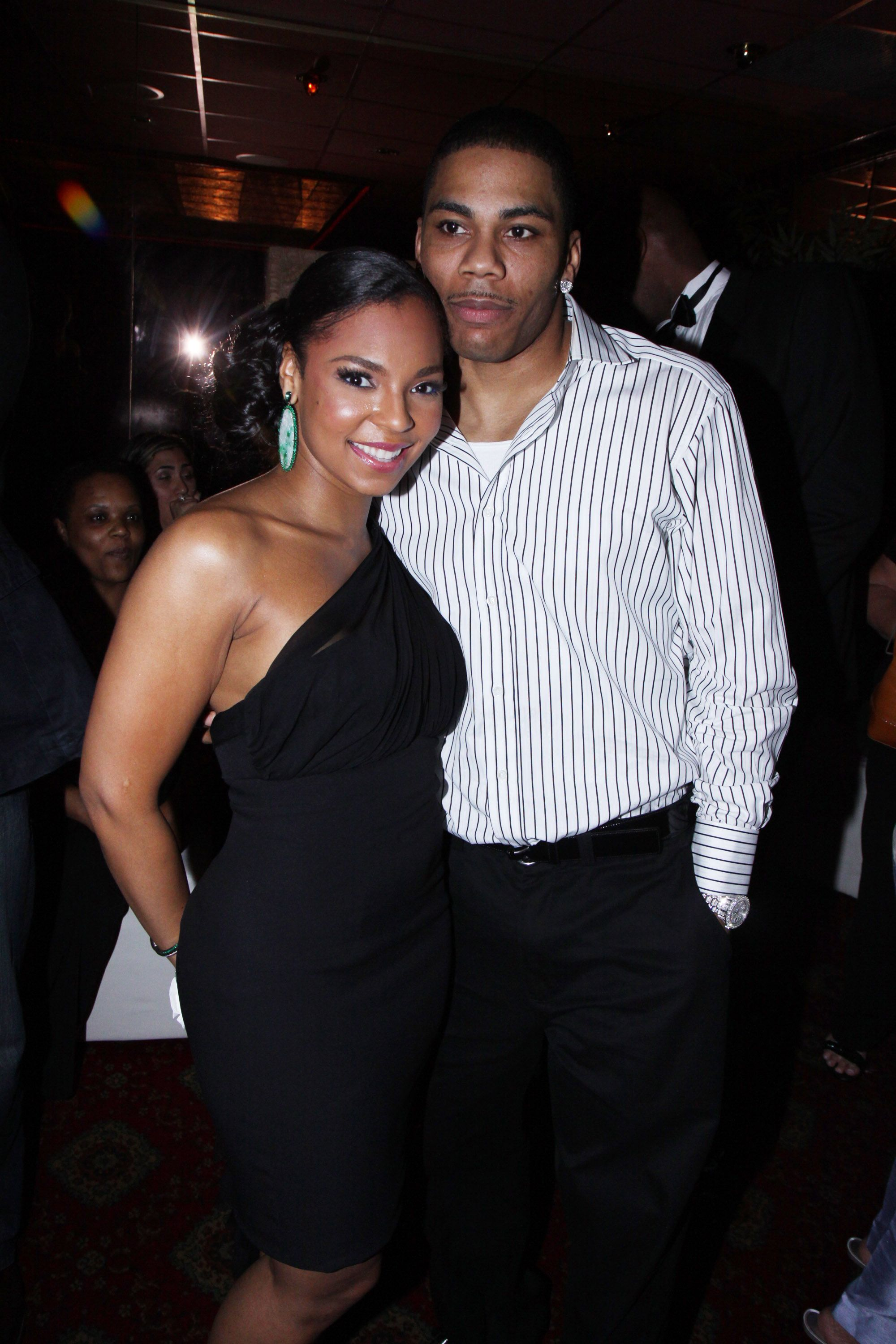 """Ashanti and Nelly at """"The Wiz"""" opening night party in 2009 in New York City 