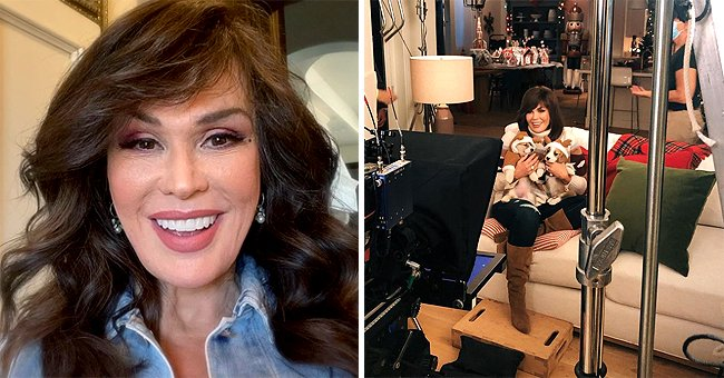 Marie Osmond Is Already in the Christmas Mood as She Poses with Adorable Puppies