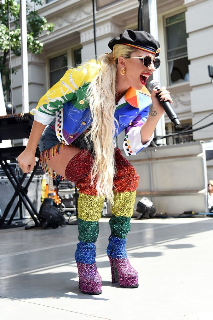 Lady Gaga speaks onstage during Pride Live's 2019 Stonewall Day | Photo: Getty Images