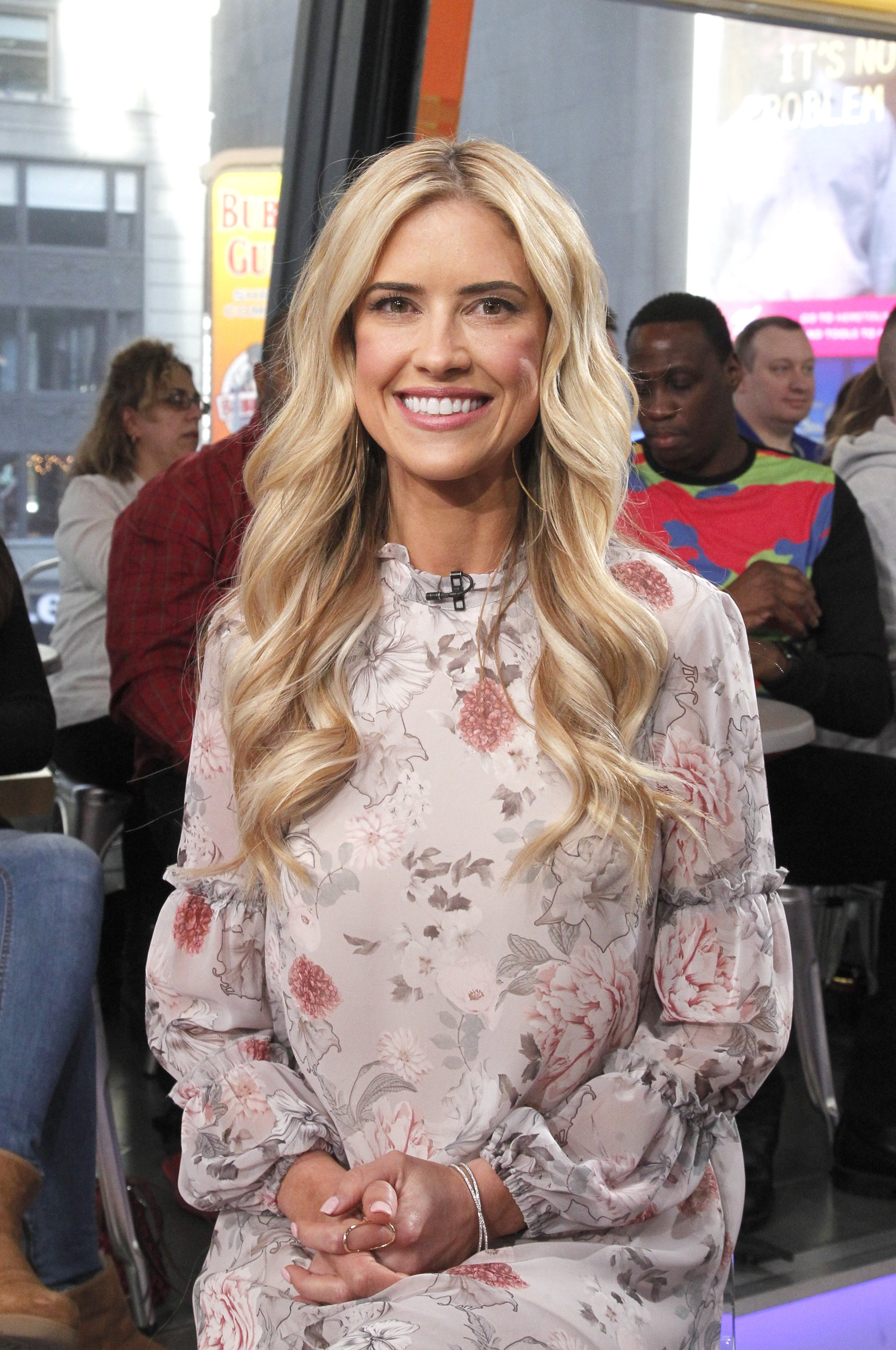 "Christina Anstead during an appearing on ""Good Morning America"", on February 21, 2017. 