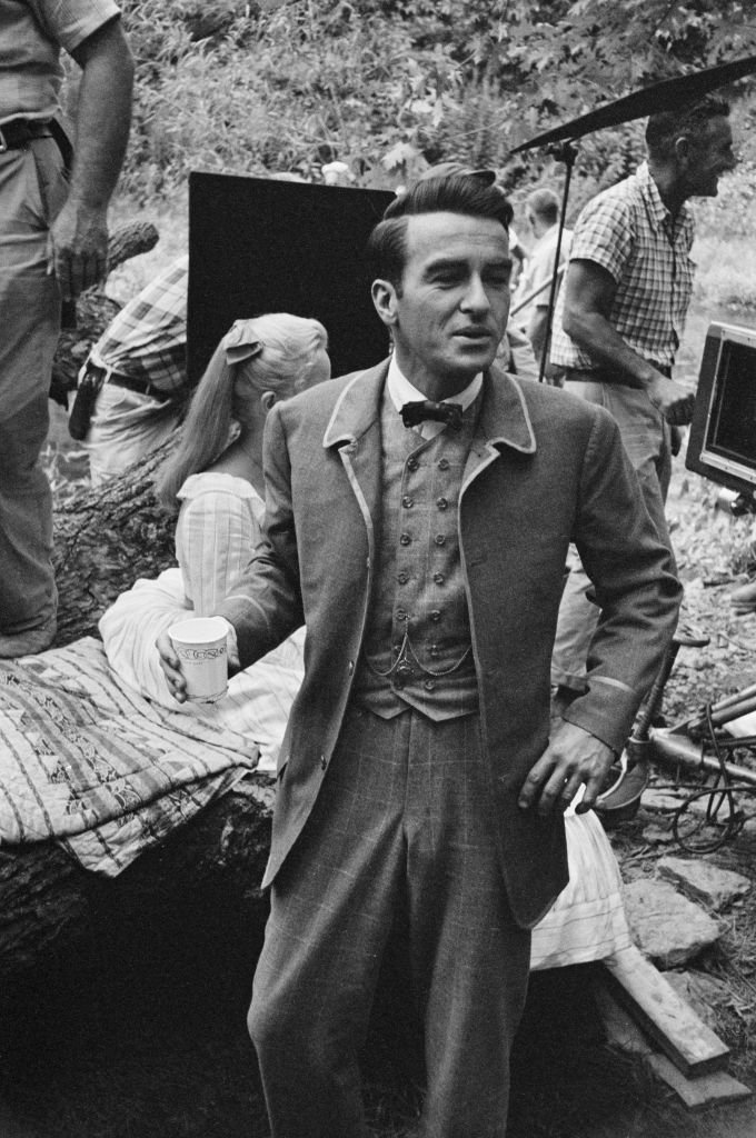"Montgomery Clift filming ""Raintree County"" in 1956 in Indiana 