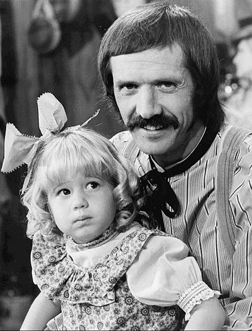 "Chastity Bono with dad, Sonny, on the set of ""The Sonny and Cher Comedy Hour"" in 1974. 