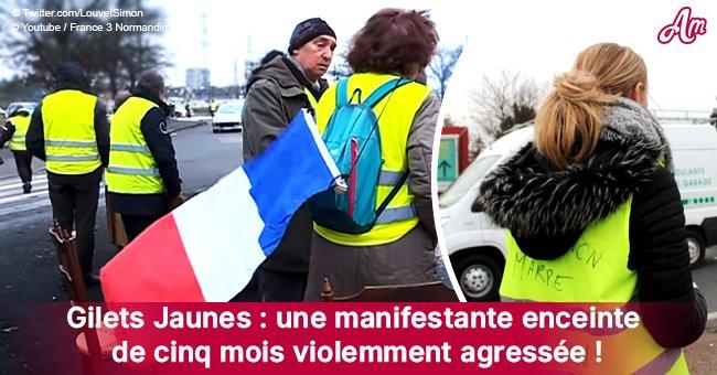 Un gilet jaune, enceinte de 5 mois, a été violemment agressée près de Rouen