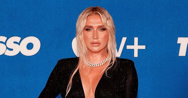 """Kesha arrives at Apple's """"Ted Lasso"""" season two premiere in Pacific Design Center on July 15, 2021.   Photo: Getty Images"""
