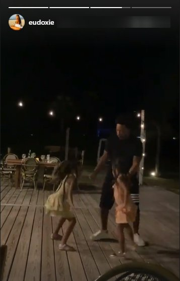 Another picture of Ludacris's daughter Cadence and Cai dancing on Instagram   Photo: Instagram/eudoxie