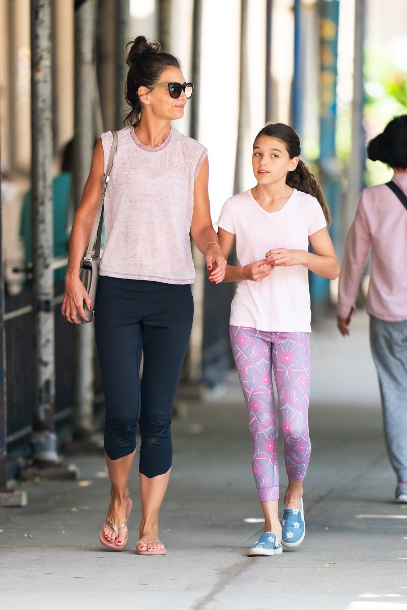 Katie Holmes and Suri Cruise on July 22, 2019 in New York City | Photo: Getty Images