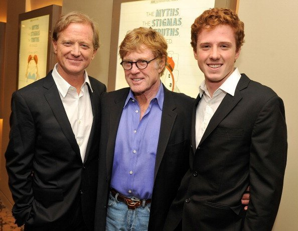 """James Redford, Robert Redford, and Dylan Redford at HBO's New York Premiere of """"The Big Picture: Rethinking Dyslexia"""" in October 2012 