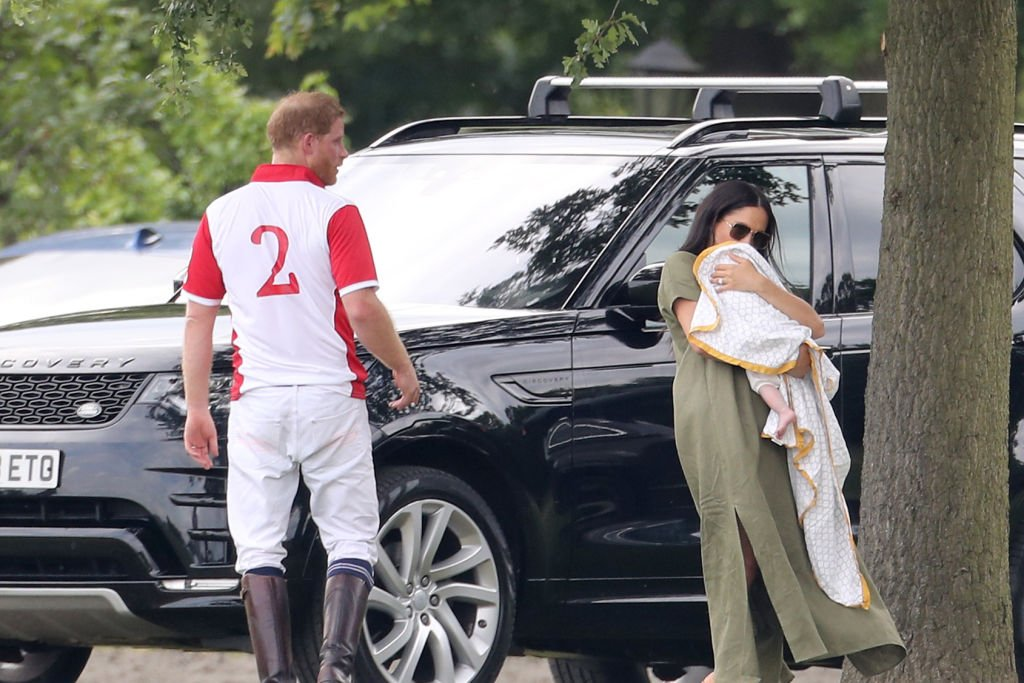 Prince Harry, Duke of Sussex, Meghan, Duchess of Sussex and Prince Archie Harrison Mountbatten-Windsor attend The King Power Royal Charity Polo Day at Billingbear Polo Club | Photo: Getty Images