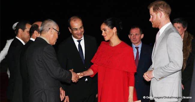 Meghan Markle Praised for Wearing Elegant Red Dress & Showing Respect to Islamic Culture in Morocco