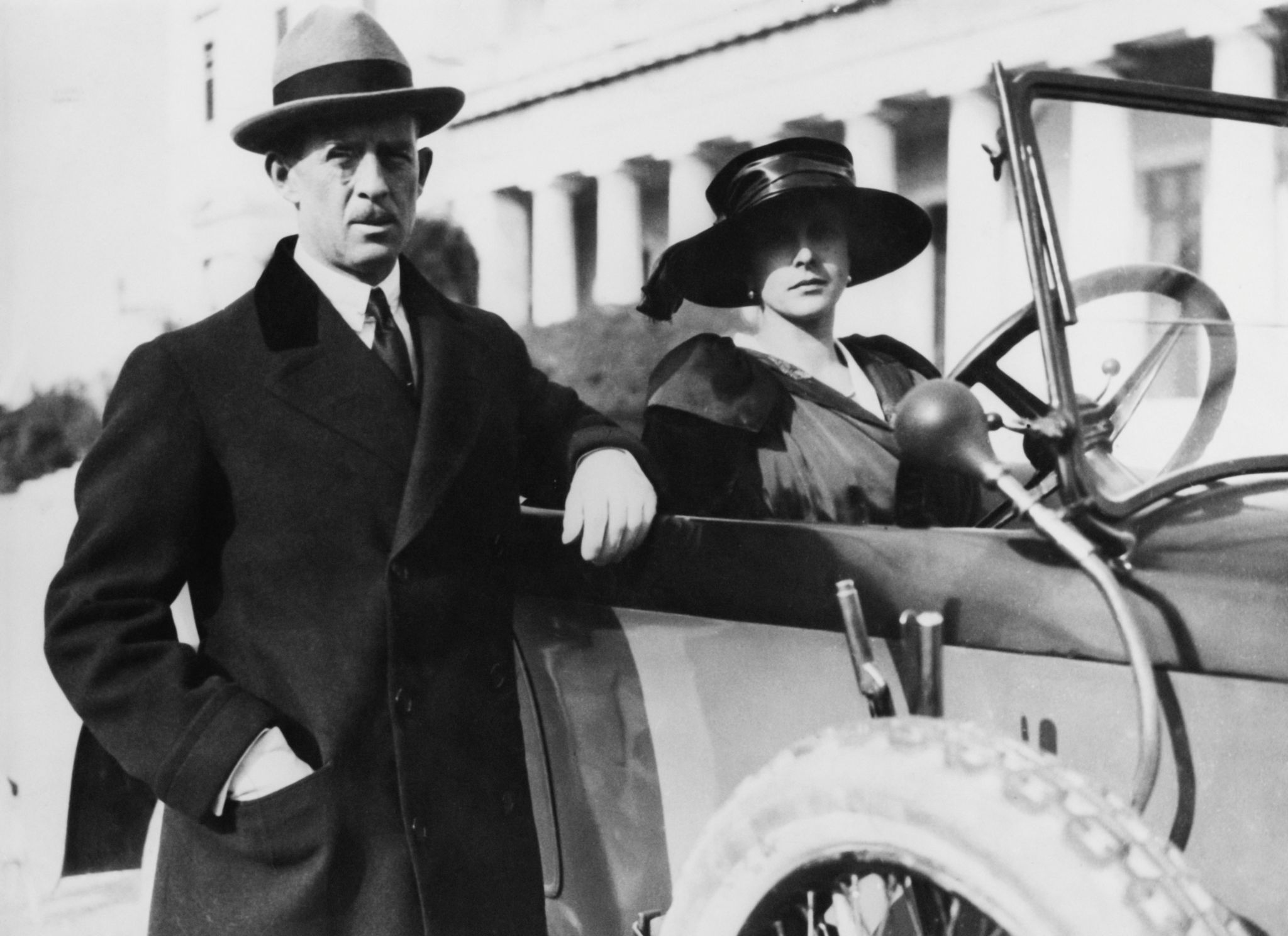Prince Andrew of Greece and Denmark with Princess Alice of Battenberg in 1921 in Athens, Greece | Source: Getty Image