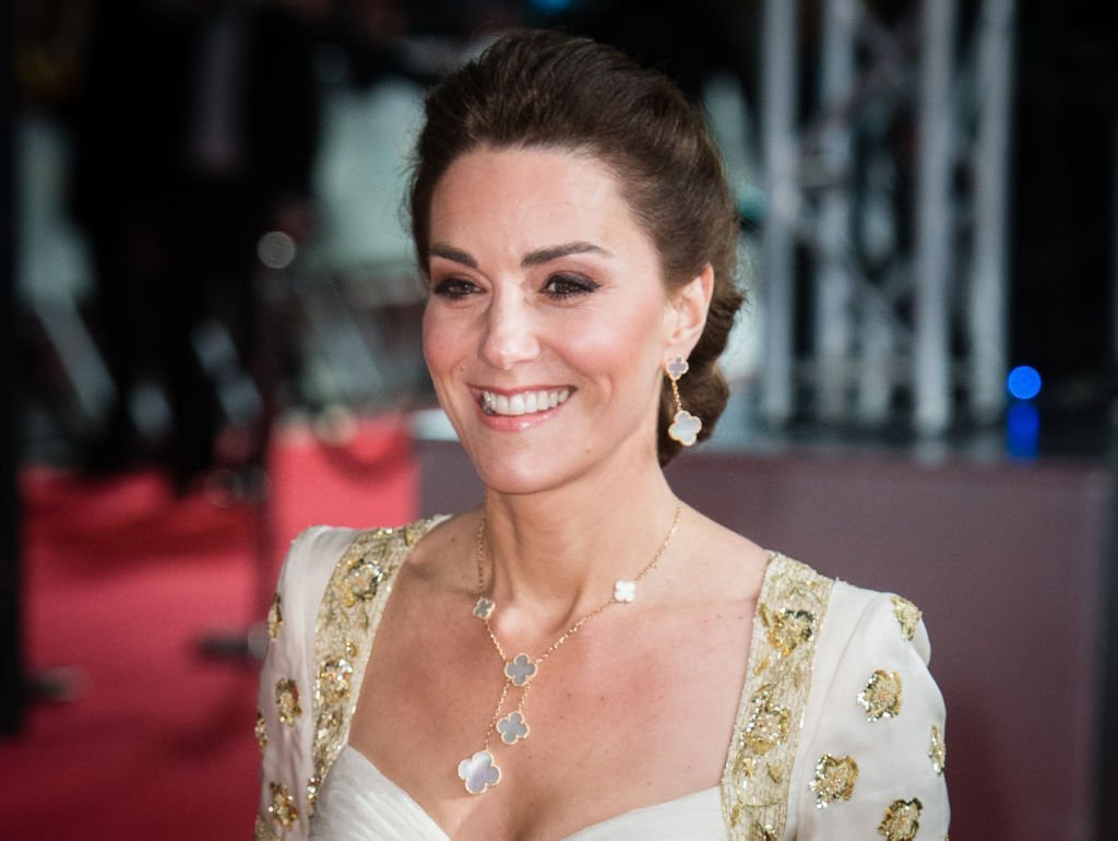 Kate Middleton walks the red carpet as she arrived at the British Academy Film Awards, at Royal Albert Hall, on February 02, 2020, in London, England   Source: Getty Images (Photo by Samir Hussein/WireImage)