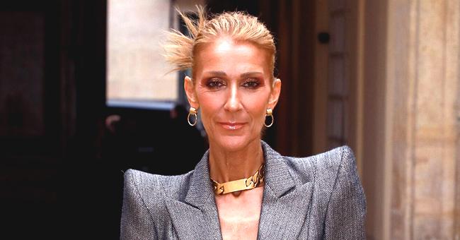 Céline Dion prend une pose dramatique dans une robe jaune fluffy (Photo)