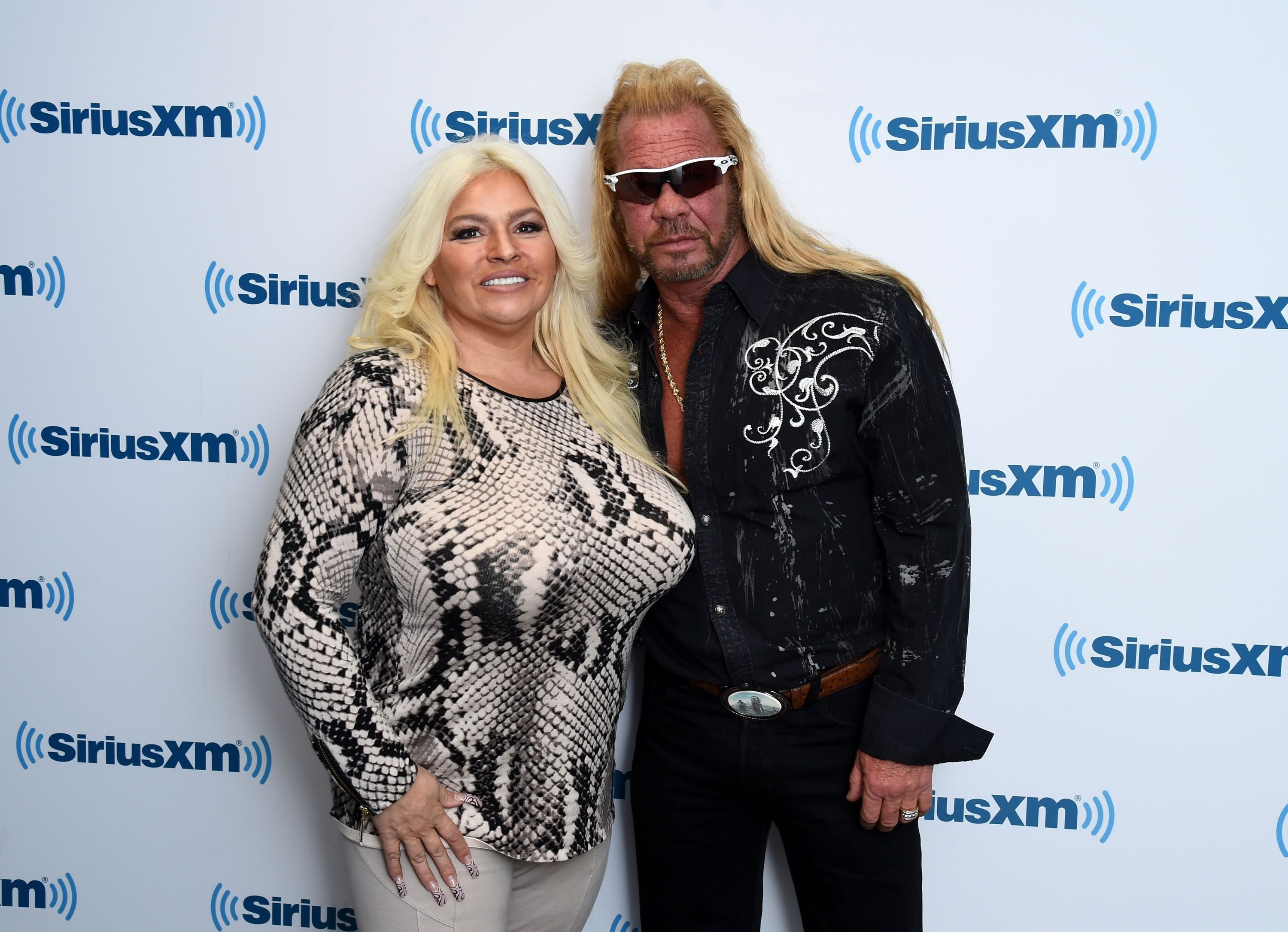 Beth Chapman and Dog the Bounty Hunter, Duane Chapman at the SiriusXM Studios on April 24, 2015 | Photo: Getty Images