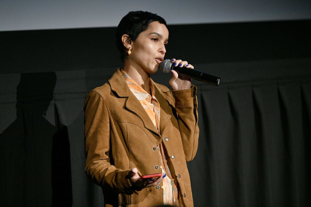 """Zoe Kravitz speaks during the """"High Fidelity"""" New York Premiere at The Metrograph on February 13, 2020 
