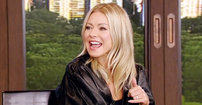 Kelly Ripa Shows off Her Tiny Waist in Chic Leather Dress after Celebrating 50th Birthday