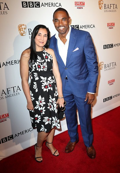 Jason George and Vandana Khanna arrive at BAFTA Los Angeles - BBC America TV Tea Party at The London Hotel on September 17, 2016 | Photo: Getty Images