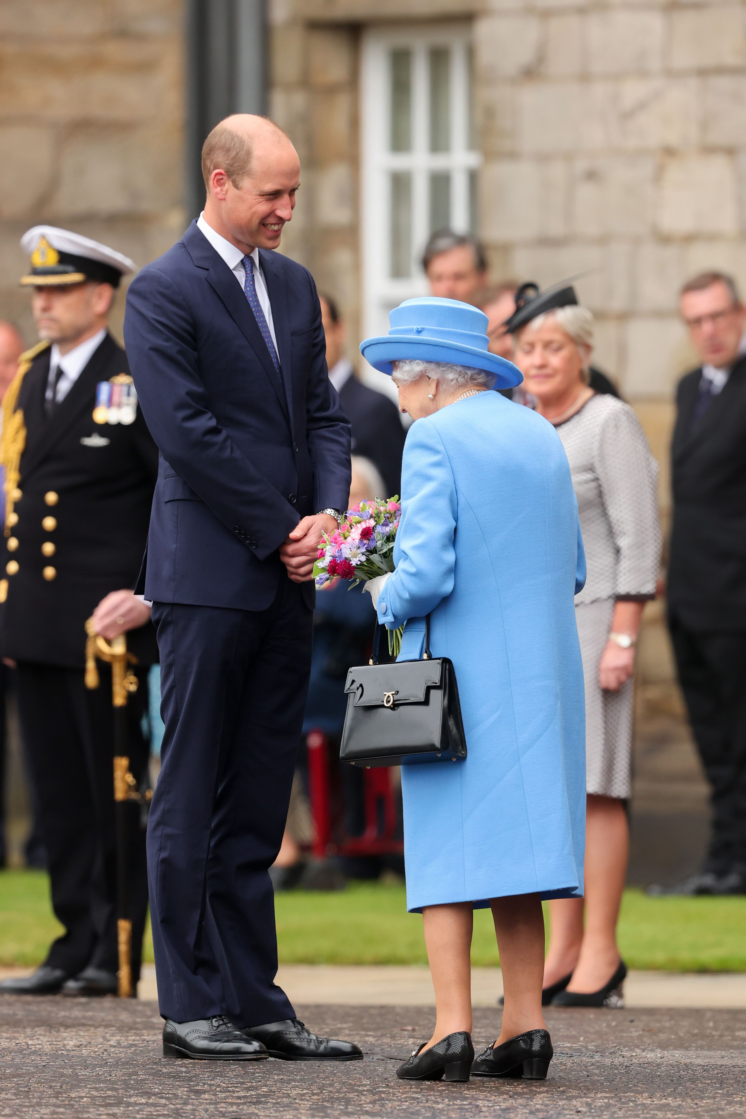 Prince Williamand Queen Elizabeth II atThe Palace Of Holyrood House on June 28, 2021, in Edinburgh, Scotland | Photo:Chris Jackson - WPA Pool/Getty Images