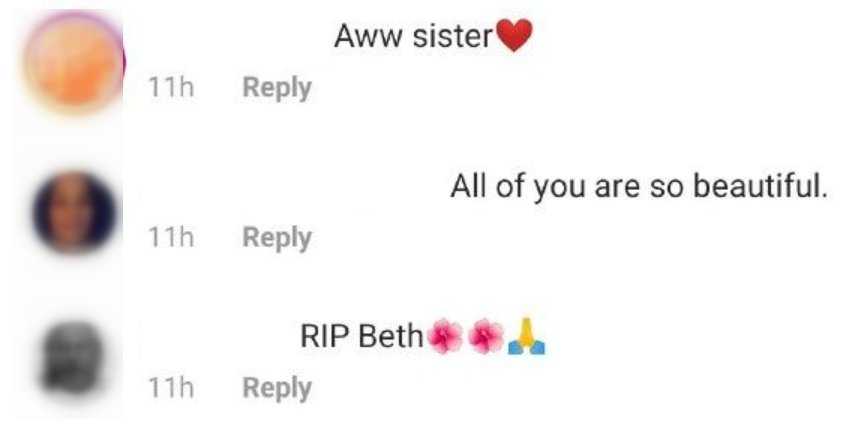 Fans comment underneath photo posted by Lyssa Chapman featuring the late Beth Chapman | Photo: Instagram/ MsLyssac