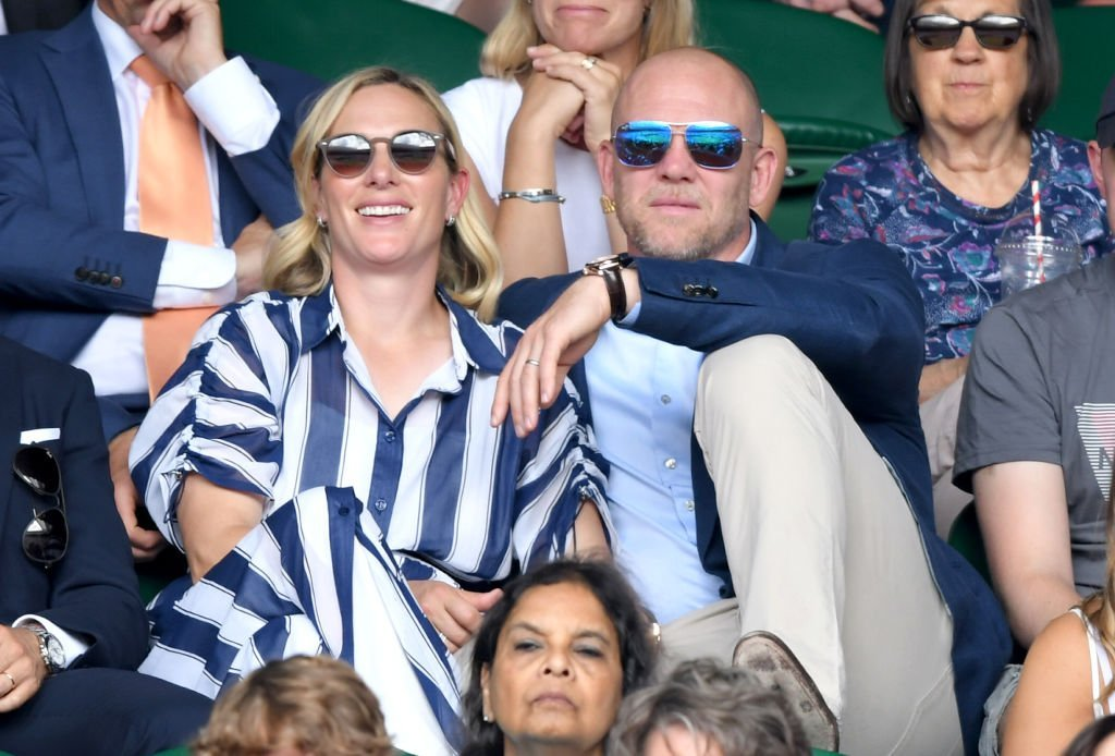 Mike Tindall and Zara Phillips attend day 9 of the Wimbledon Tennis Championships at All England Lawn Tennis and Croquet Club | Photo: Getty Images