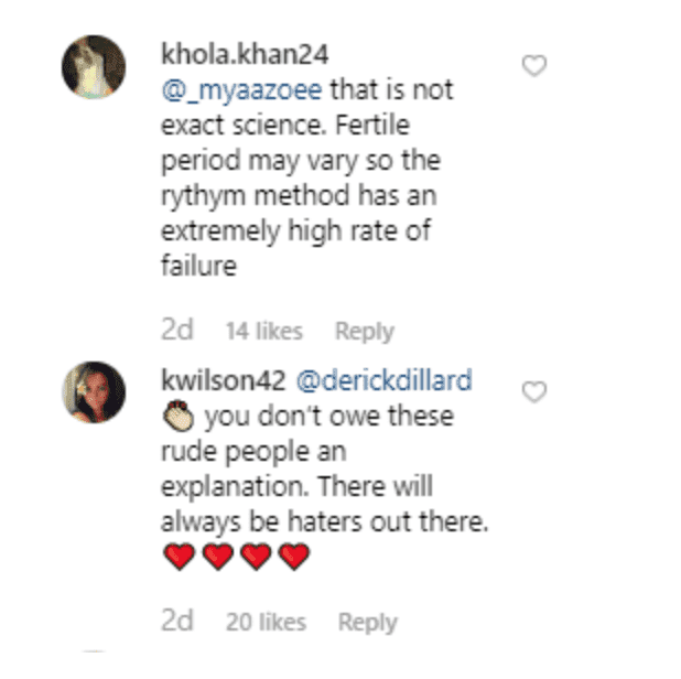 Fan's comment on Jill Dillard's post. | Source: Instagram/jillmdillard