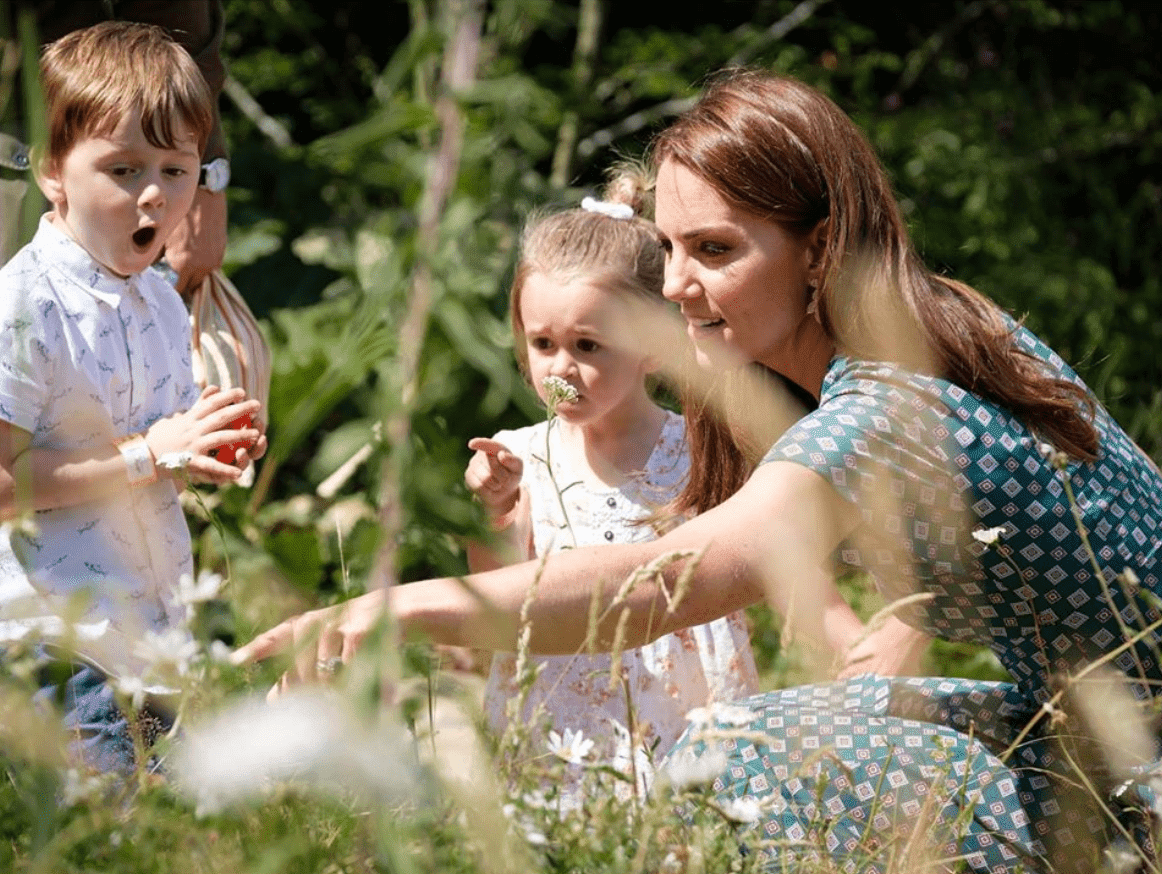 Duchess of Cambridge, Kate Middleton, engages with the children in her Back To Nature Garden. | Source: Instagram/kensigtonroyal