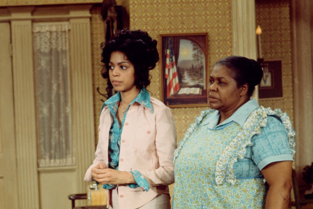 """Lynne Moody, Theresa Merritt appearing on the ABC tv series """"That's My Mama"""" on January 01, 1974 