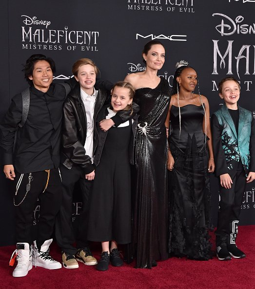 Angelina Jolie and her children at El Capitan Theatre on September 30, 2019 in Los Angeles, California. | Photo: Getty Images