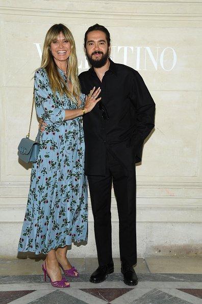 Heidi Klum und Tom Kaulitz, Paris Fashion Week, 2019 | Quelle: Getty Images