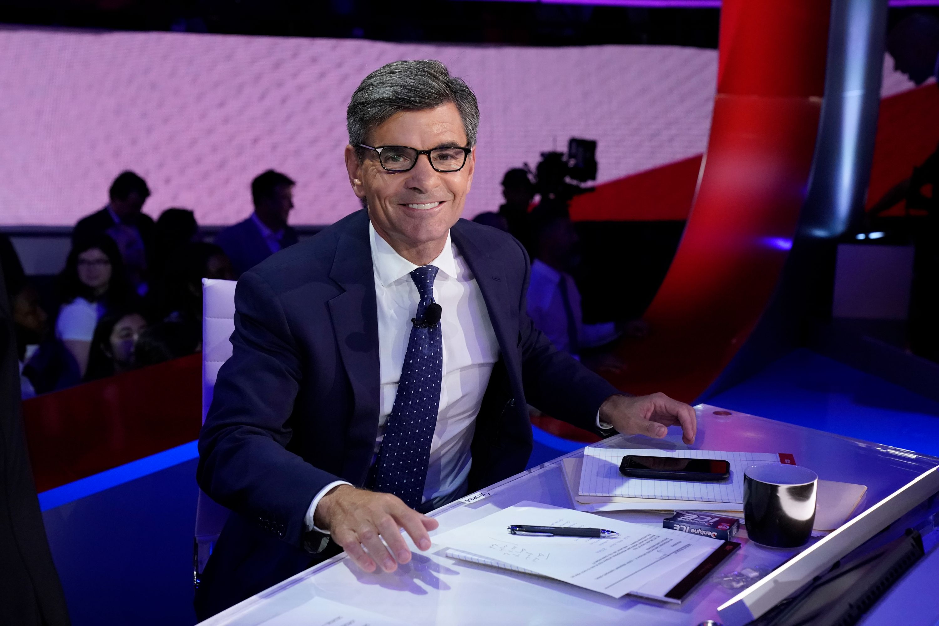George Stephanopoulos at the Texas Southern University's Health & PE Center in Houston on September 12, 2019 | Photo: Heidi Gutman/Walt Disney Television/Getty Images