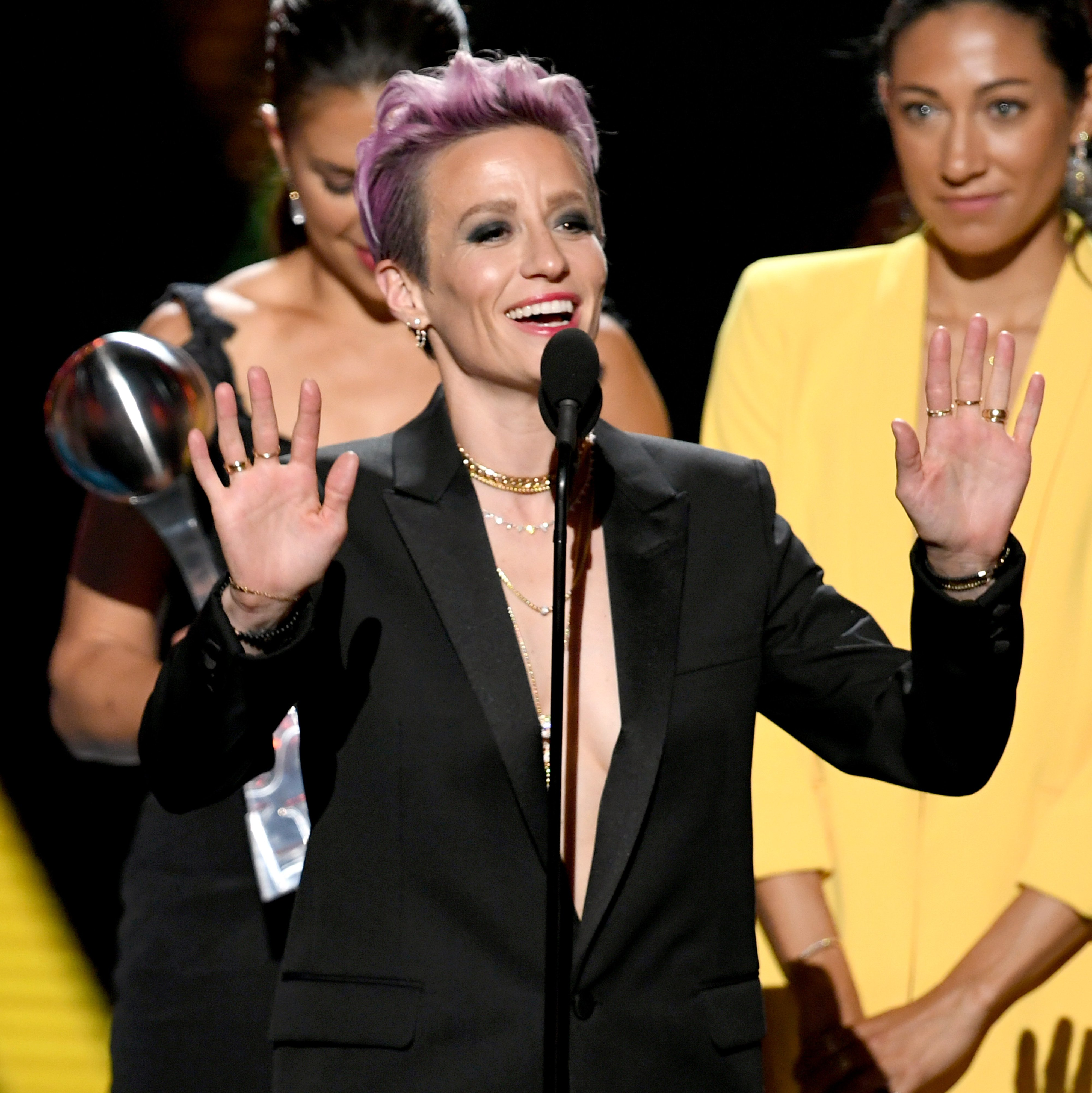 Megan Rapinoe speaks at the Annual ESPY Awards on July 10 2019 | Photo: Getty Images